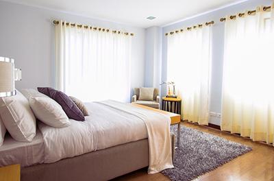 Sunlit bedroom