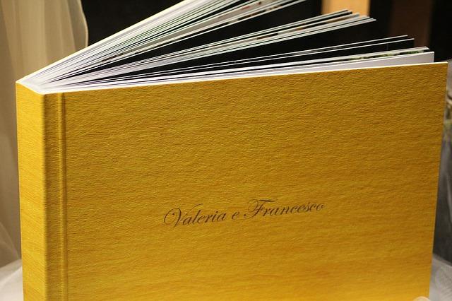 Gold boudoir photo album
